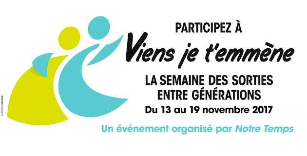 Participez à viens je t'emmène : la semaine des sorties entre générations du 13 au 19 novembre